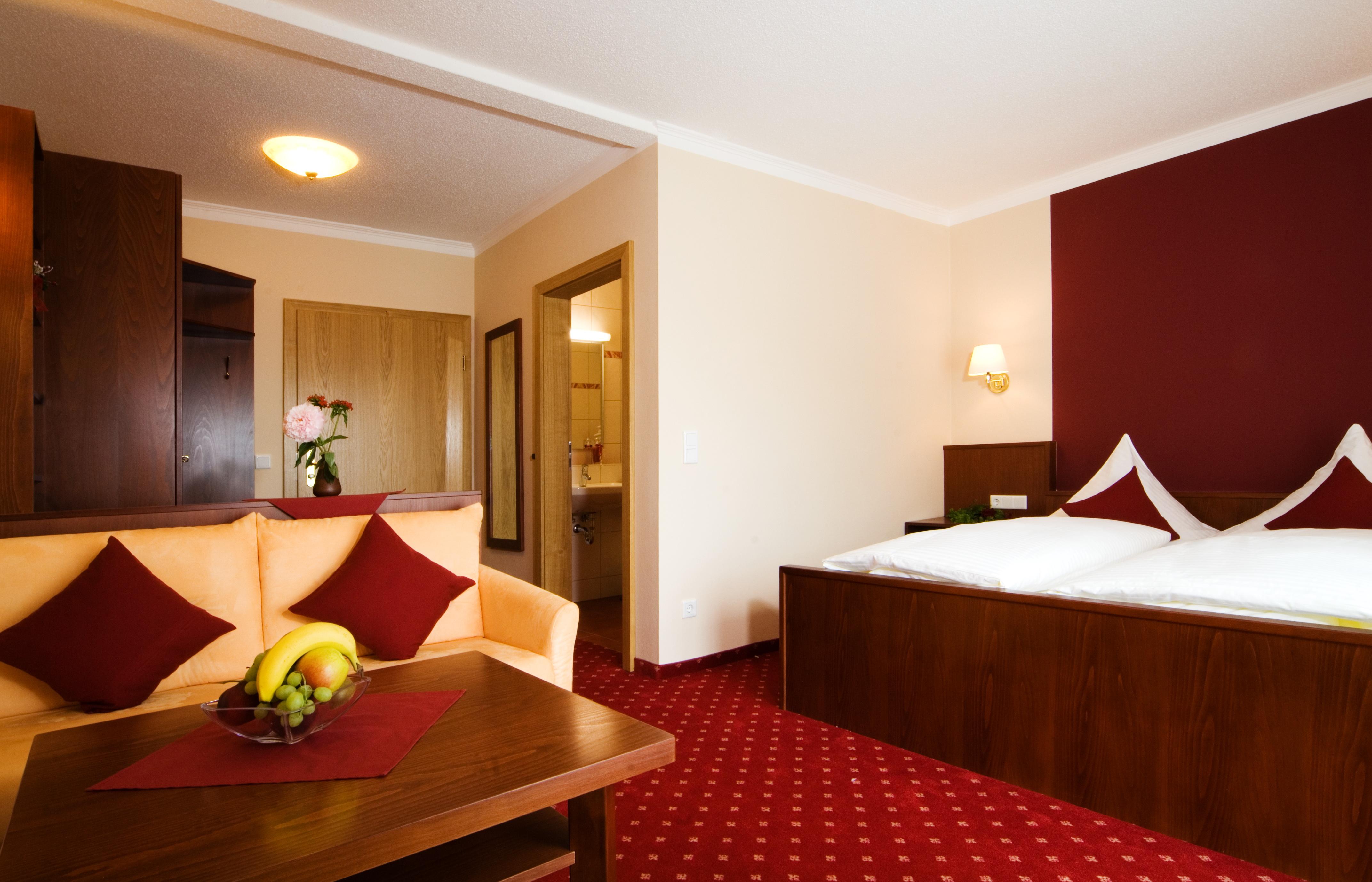 Komfort-Doppelzimmer mit Südbalkon
